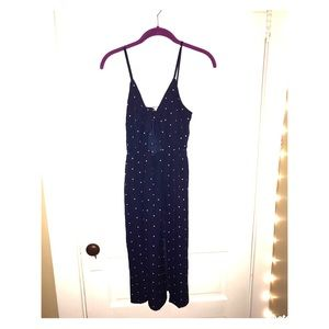 Dresses & Skirts - Dark blue with white polka dot dress